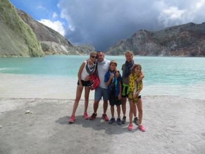 Une famille de sportif à Bali