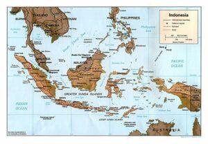 Carte d'Indonésie