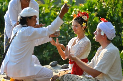 Un couple bien sympathique à Bali