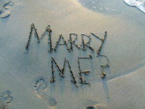 Demande écrite sur le sable