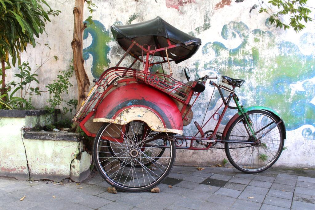 Indonésie – Rickshaw,