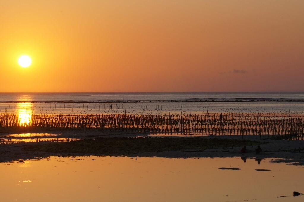 coucher de soleil, Gili, Indonésie