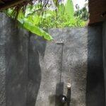 douche semi-ouverte