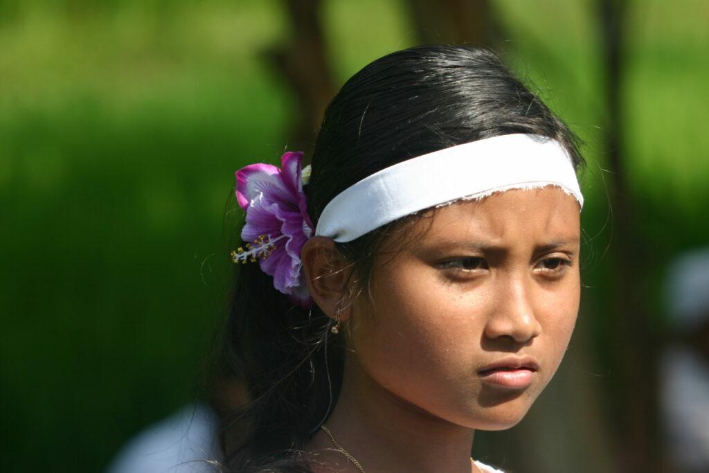 jeune balinaise, bali, Indonésie