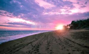 plage sauvage de sable noir