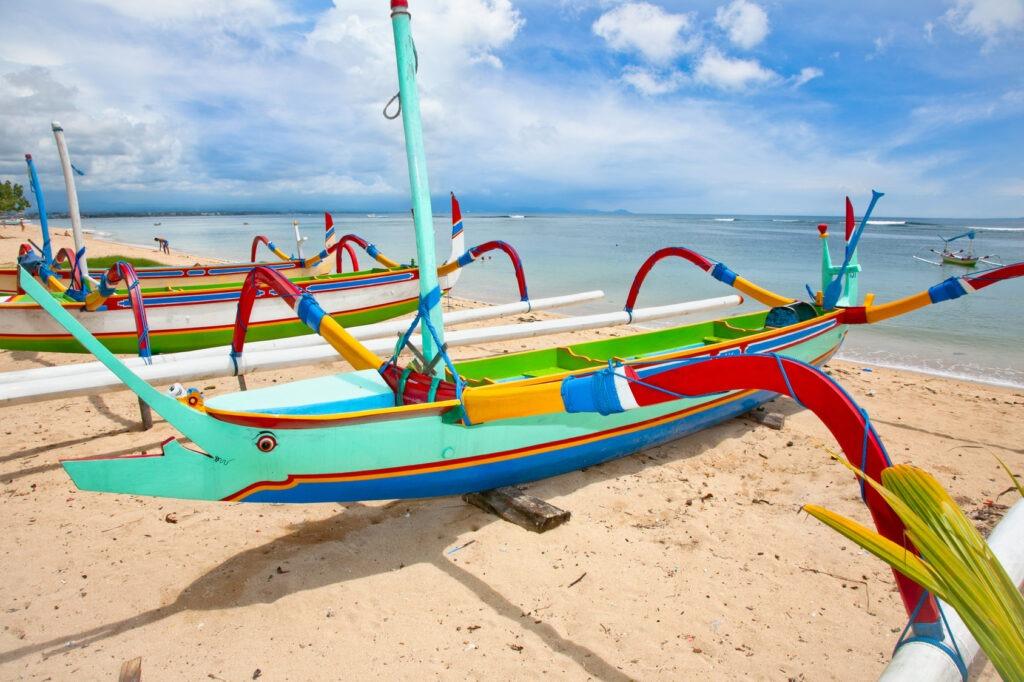 bateau traditionnel de pêche, Bali, Indonésie