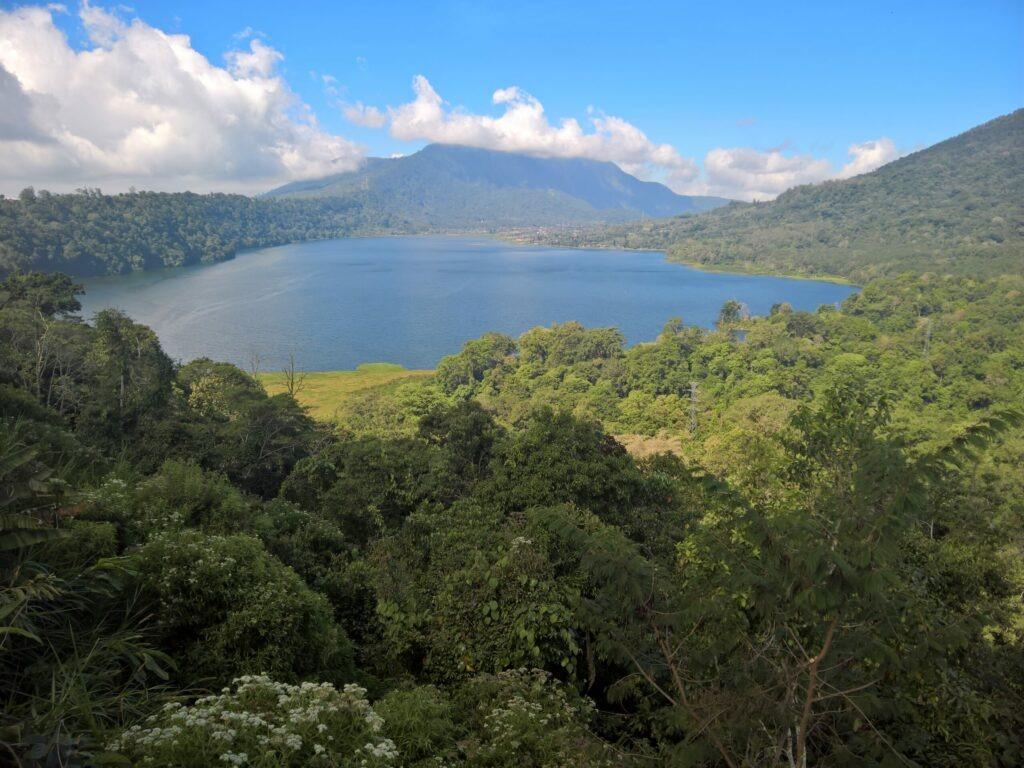 lac, montagnes, Bali
