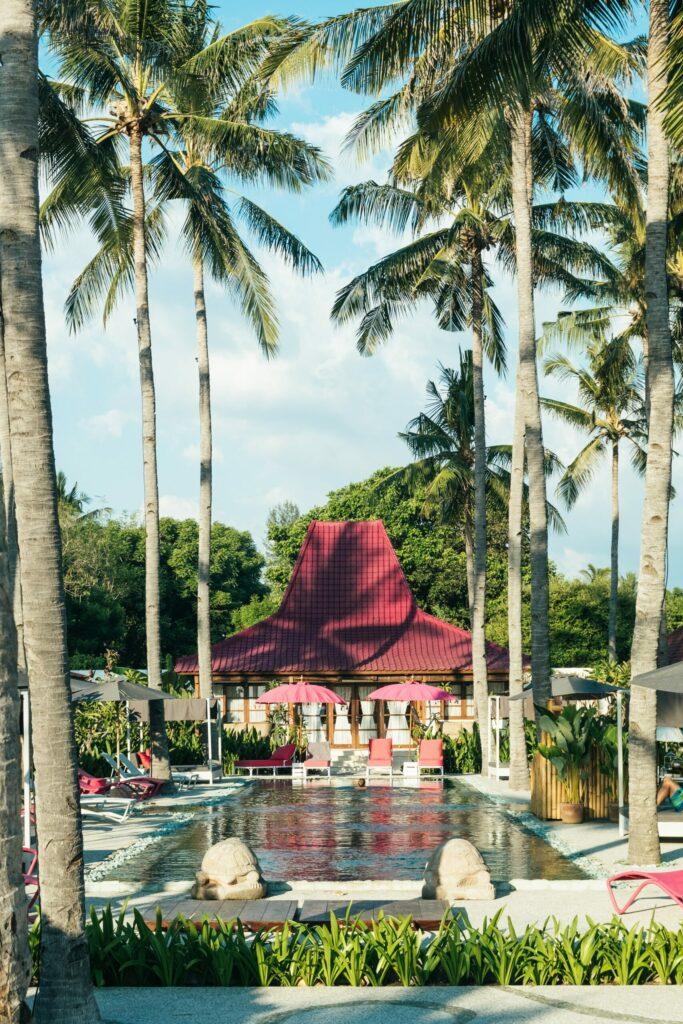 hôtel, Gili, Bali, Indonésie