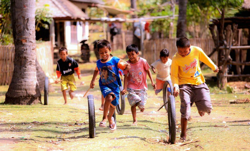 enfants, Lombok, Indonésie