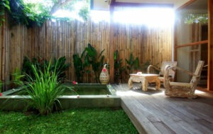 petite piscine tropicale privative