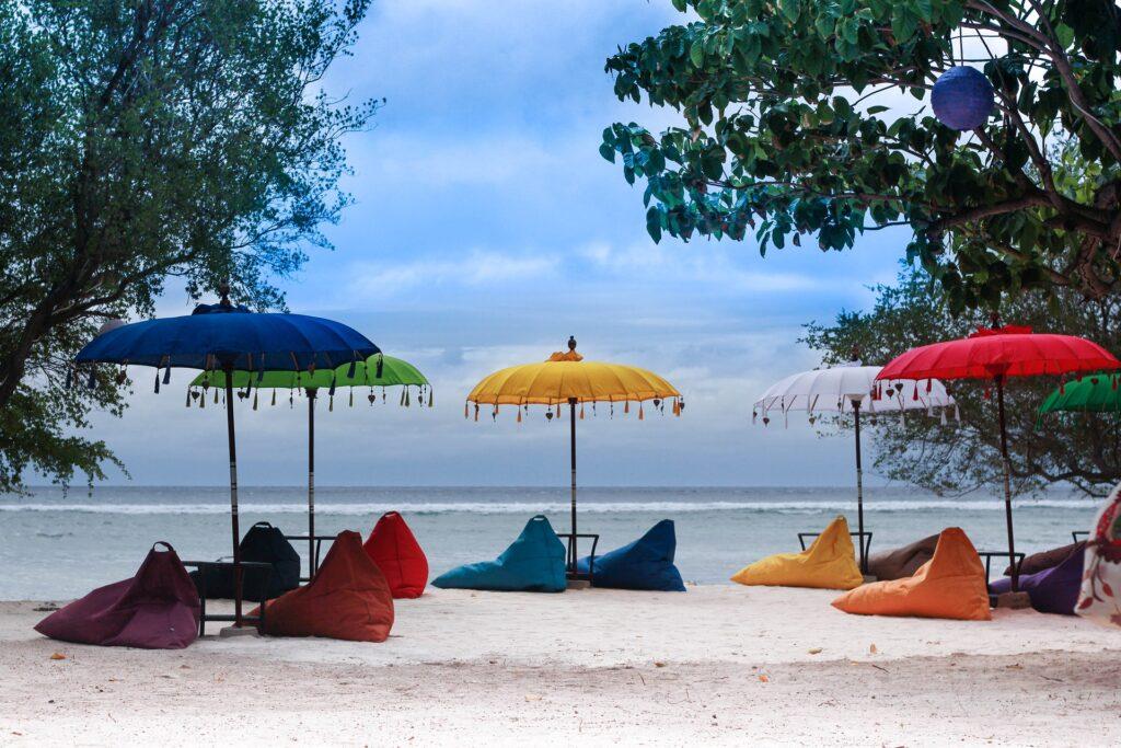 plage, Gili, Indonésie