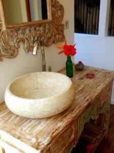 salle de bain typique de Bali