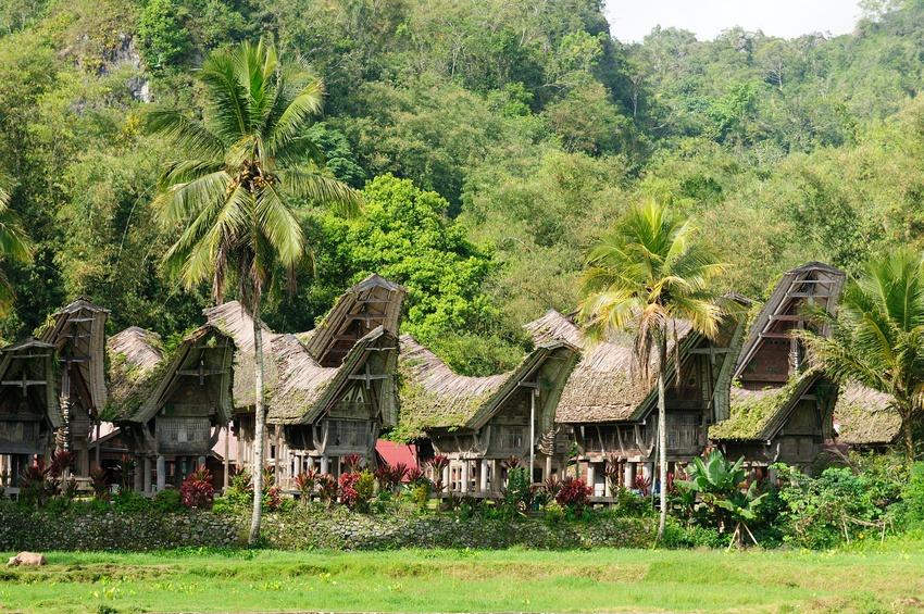 Traditional house on the Toraja village