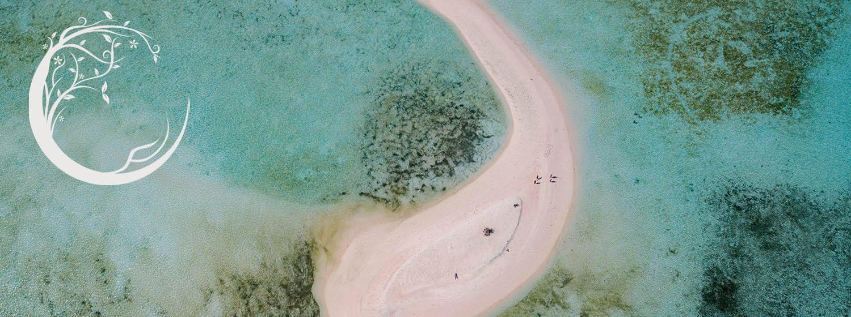 îlot désert de sable blanc à komodo