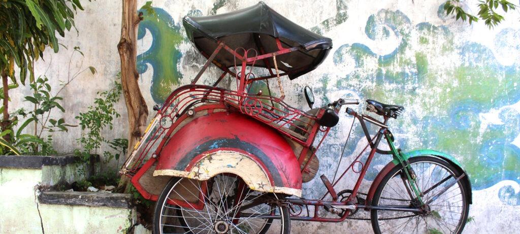 Indonésie, Jogjakarta, Rickshaw,