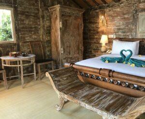 chambre typique à Bali